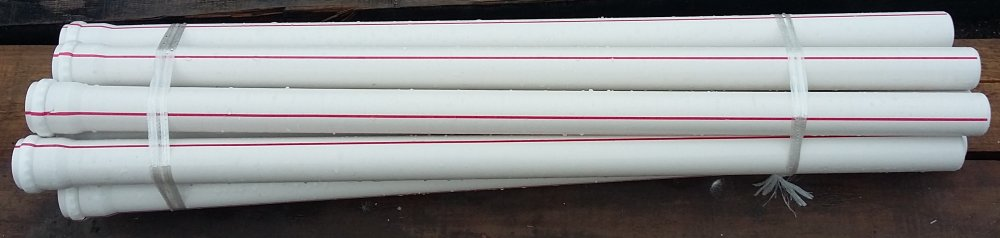 PVC sewer pipe D: 50 mm, T: 3.2 mm, L: 1 m