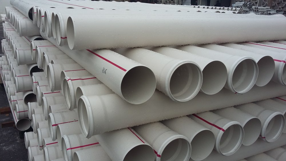 Sewer pipes made of PVC