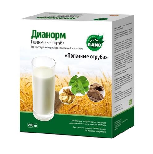 Пшеничные отруби Дианорм 200 гр