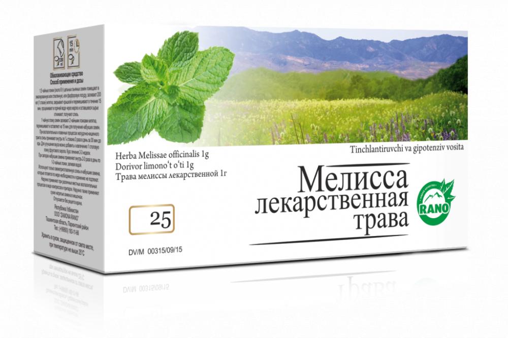 Мелисса лекарственная  фильтр-пакет  25гр