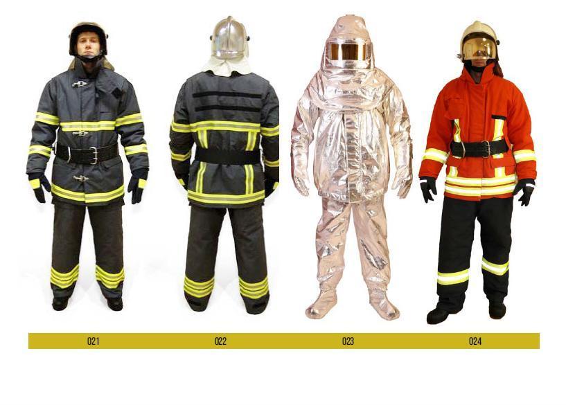 Vêtement du sapeur-pompier combatif