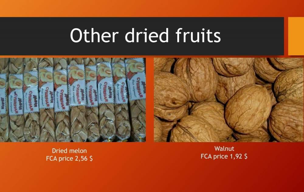 Купить Грецкие орехи и сушеная дыня