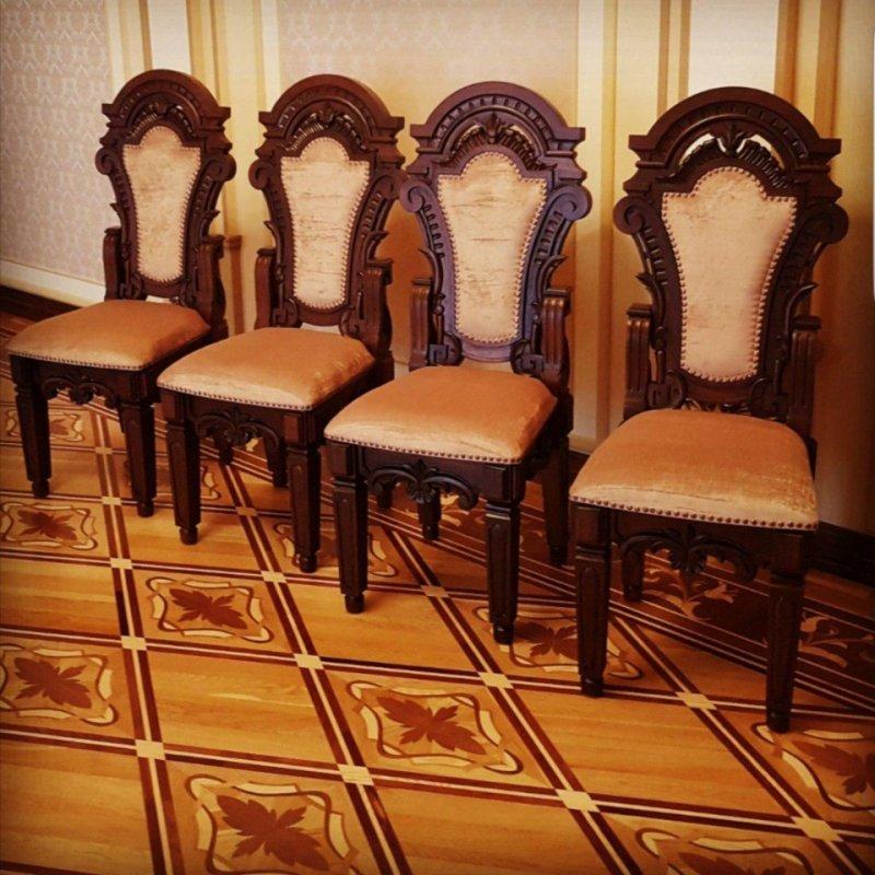 Купить Банкетный стол и стулья вид 7