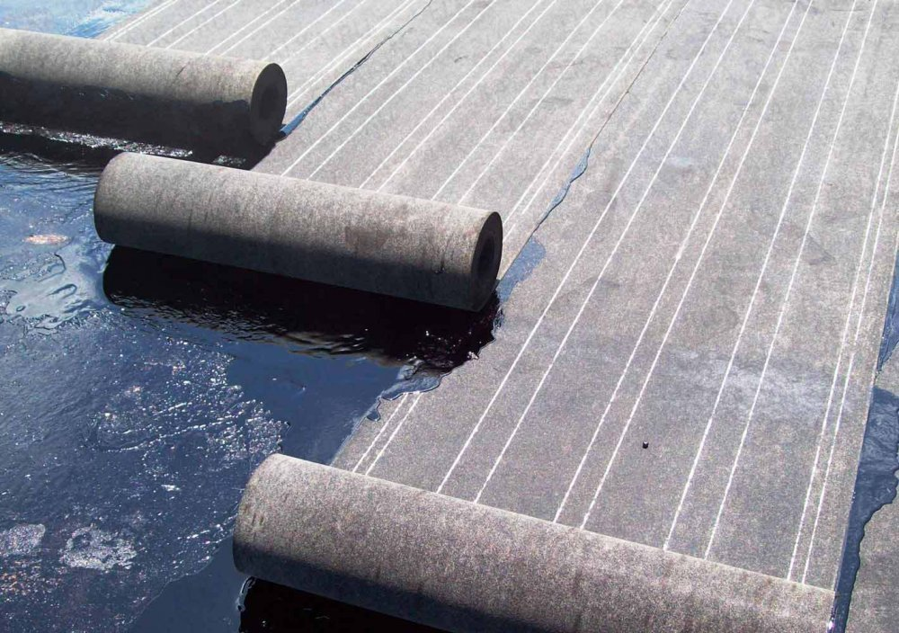 Ruberoid roofing and other bituminous materials