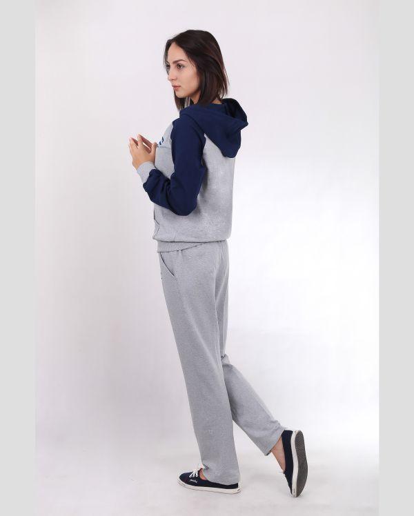 Купить Женский спортивный костюм серо-синий