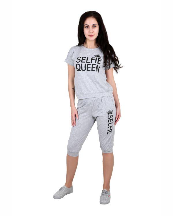 Купить Женский трикотажный комплект футболка и бриджи