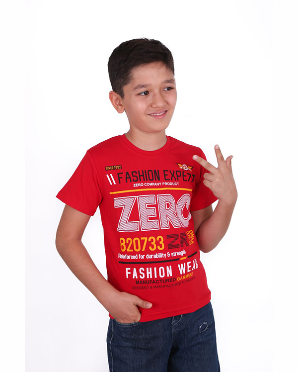 Купить Футболки с короткими рукавами для подростков Зеро красная