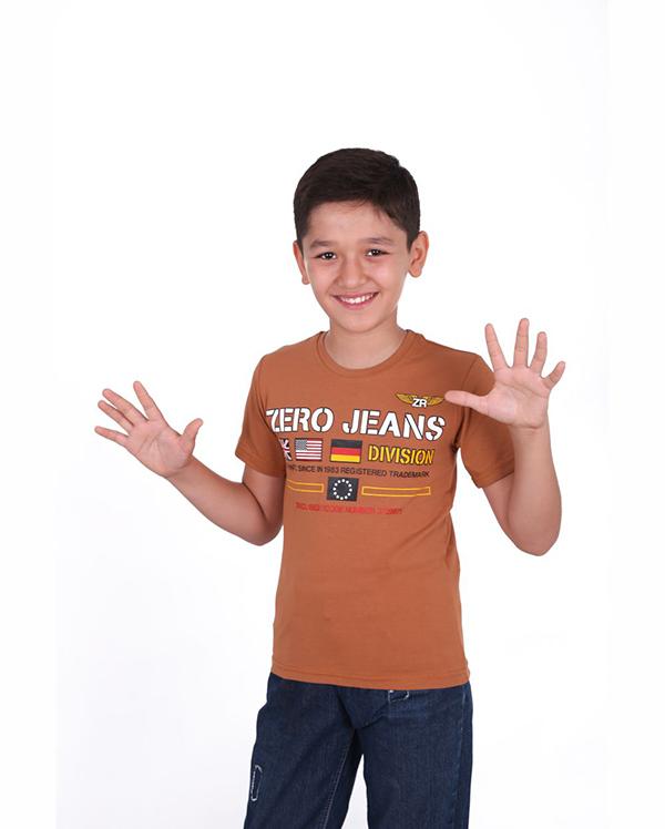 Купить Футболки с короткими рукавами для подростков Зеро коричневая