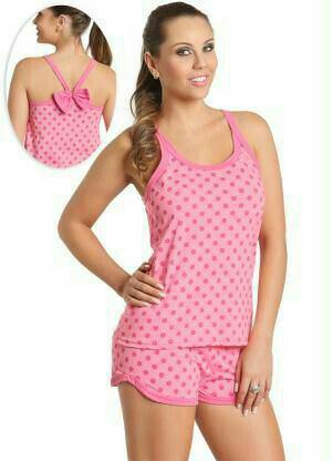 Женская пижама с шортами светло-розового цвета