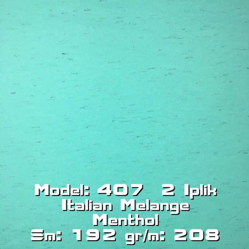 Купить Model: 407 2 Iplik Italian Melange Menthol