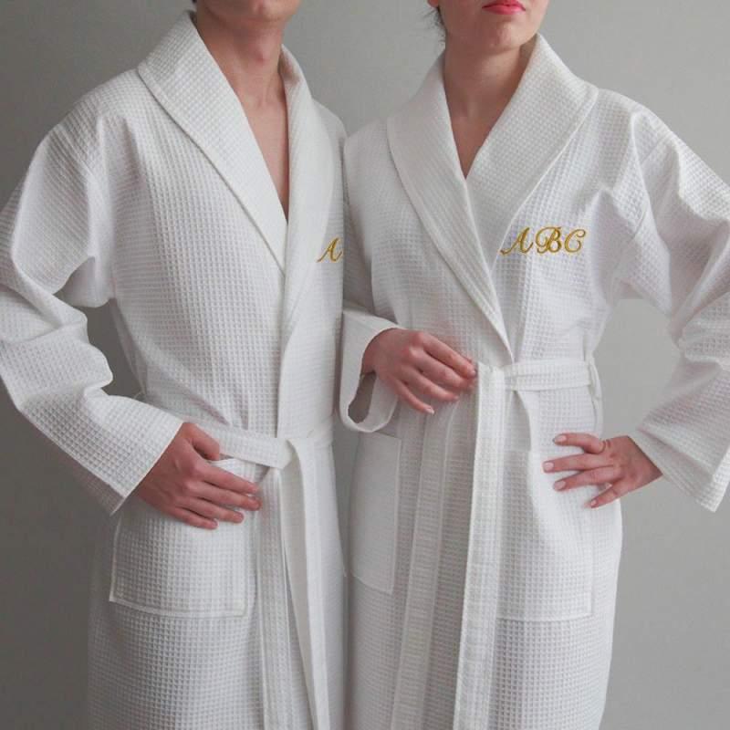Банные халаты вафельное