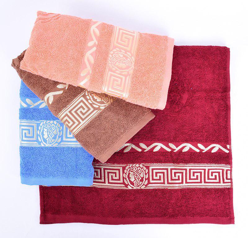 Махровые полотенца лицевые, 50x90, х/б