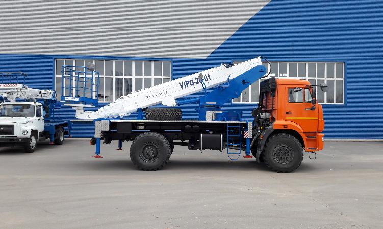 Подъемник автомобильный гидравлический ВИПО-28 КАМАЗ-43502