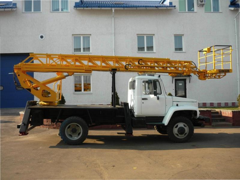 Подъемник автомобильный гидравлический ВИПО-18 ГАЗ 3309 лестница