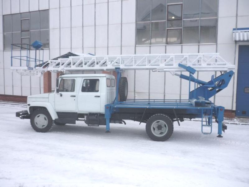 Подъемник автомобильный гидравлический ВИПО-20 ГАЗ 3309 лестница
