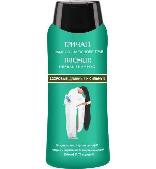 Шампунь для укрепления и роста волос Trichup Healthy, Long & Strong Herbal