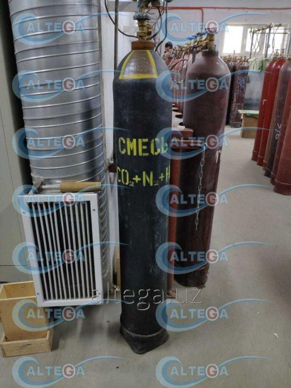 Газовая смесь для лазеров (5%CO2+40%HE+55%N2)