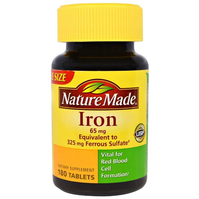 Пищевая добавка Iron Nature Made 65 мг таблетки 180 шт