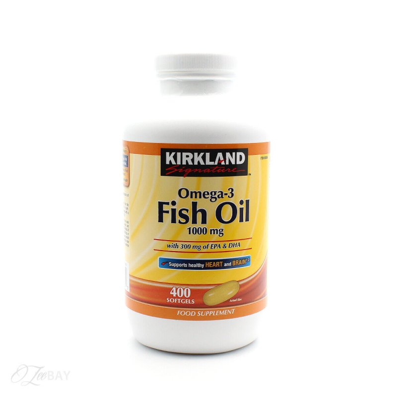 Рыбий жир Kirkland Signature 400 капсул