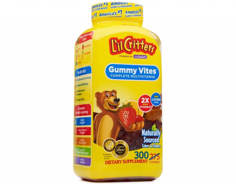 Мультивитамины L'IL CRITTERS GUMMY VITES таблетки 300 шт.