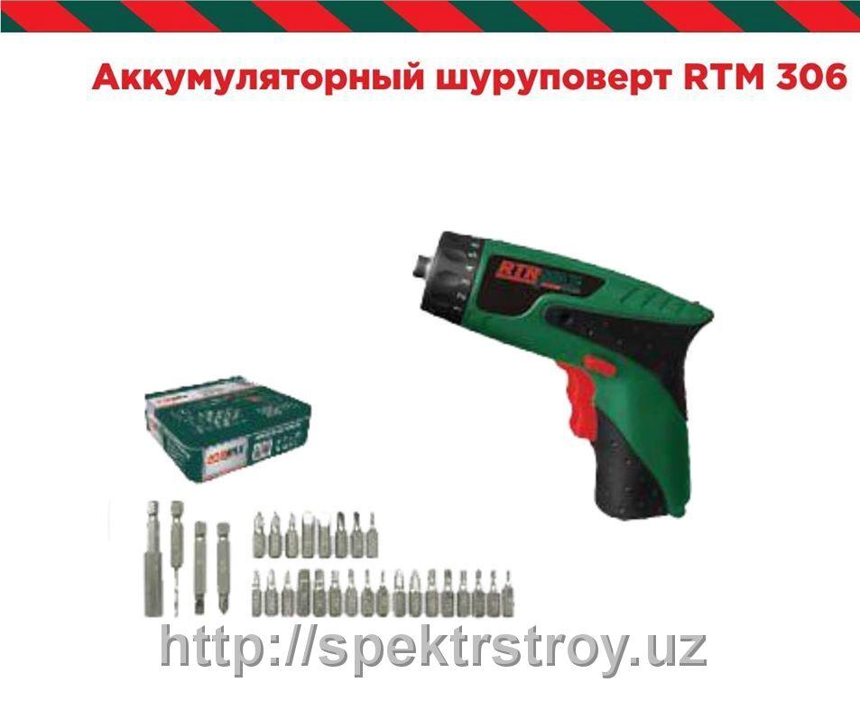 Отвертка аккумул RTM 306, 3,6V, 180об/мин, 1кг