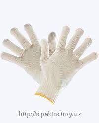 Защитные перчатки х/б без ПВХ напыления