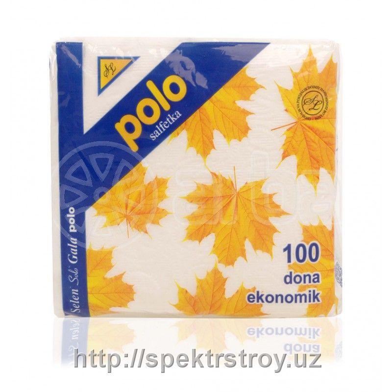 Салфетки бумажные Polo 100шт