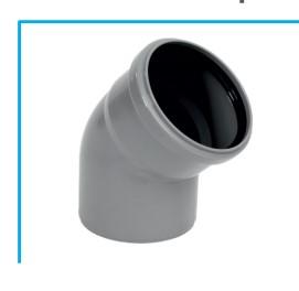 Купить Канализационный отвод 45 градусов (Ø50)