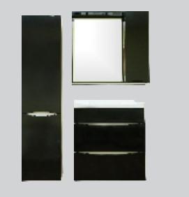 Купить Комплект мебели для ванной комнаты Olivia Black (Тумба, Зеркало, Пенал)