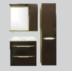 Купить Комплект мебели для ванной комнаты Olivia Brown (Тумба, Зеркало, Пенал)