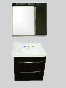 Купить Комплект мебели для ванной комнаты Olivia Black (Тумба, Зеркало)