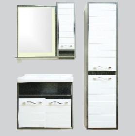 Купить Комплект мебели для ванной комнаты Plaza (Тумба, Зеркало, Пенал)