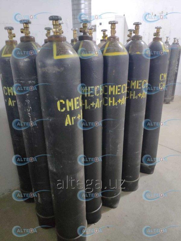 Газовая смесь для лазеров (5%СО2+60%Не+35%N2) ТУ 2114-008-37924839-2016