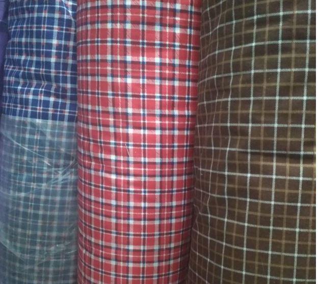 Ткань для производства текстиля в клетку