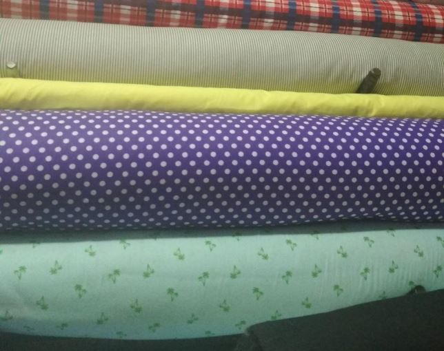 Ткань для производства текстиля цветная с принтом