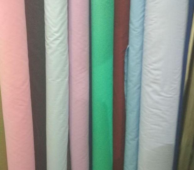 Ткань для производства текстиля однотонная разноцветная в рулоне