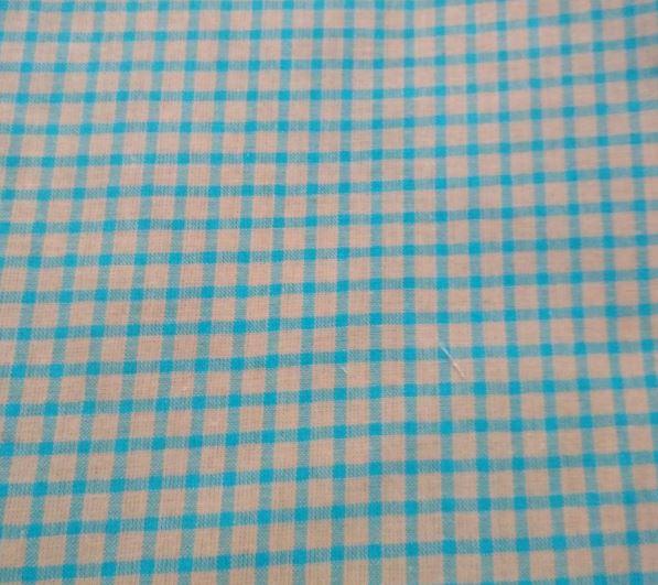 Ткань для текстиля клетка голубая