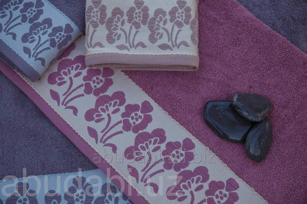 Купить Полотенце махровое Abu Dabi в сиреневых тонах