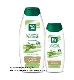 Купить Шампунь зеленый чай - для нормальных и жирных волос