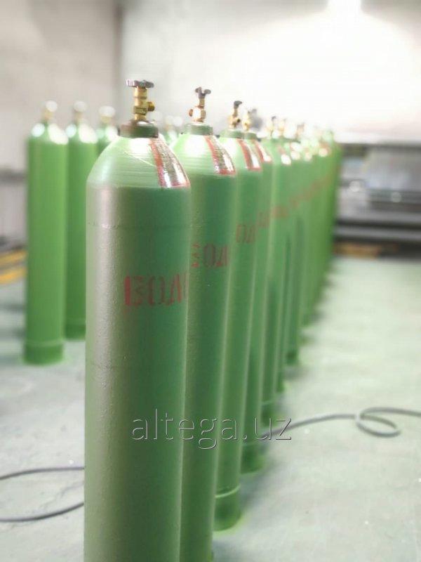 Баллон водородный 40 л. - 45Д-150 кгс/см2. (14,7МПа), ГОСТ 949-73.