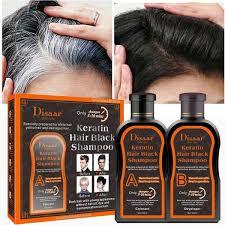 Disaar Оттеночный шампунь от седины с кератином Keratin Hair Black Shampoo 400 ml