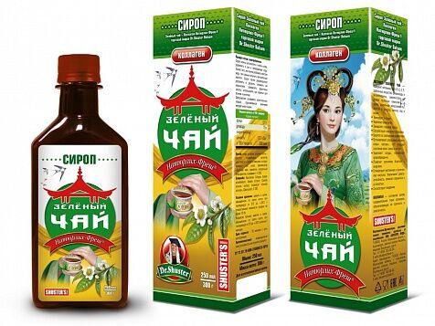 Сироп зеленый чай коллаген