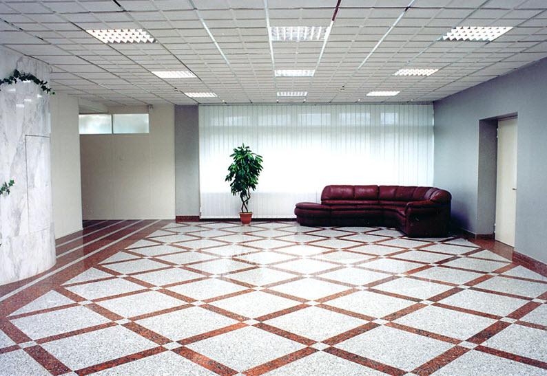 40平会议室地板手绘效果图