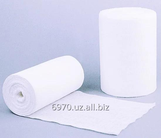 Buy Gauze medical bleached in rolls for 1000 p/m with a density not less than 32 ± 2 gr., 90 wide ± 1,5 cm TNVED 3005903100 Code