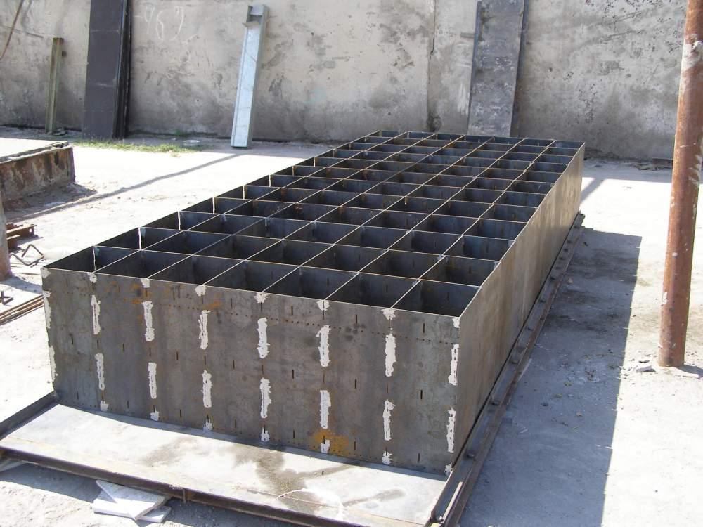 Металлические форм-оснастки для производства пеноблоков.