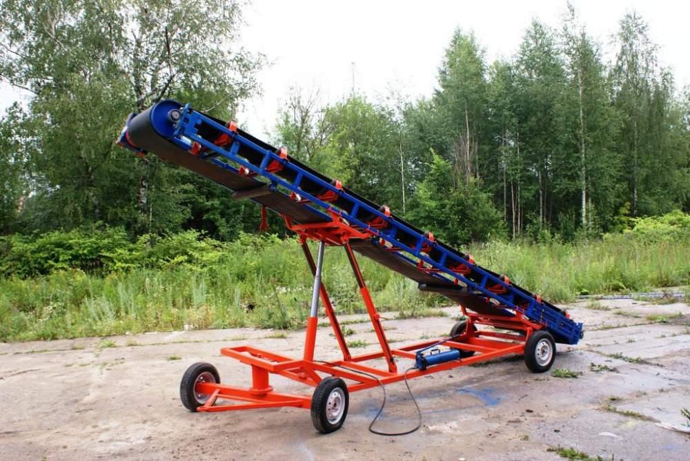 наклонный передвижной транспортер