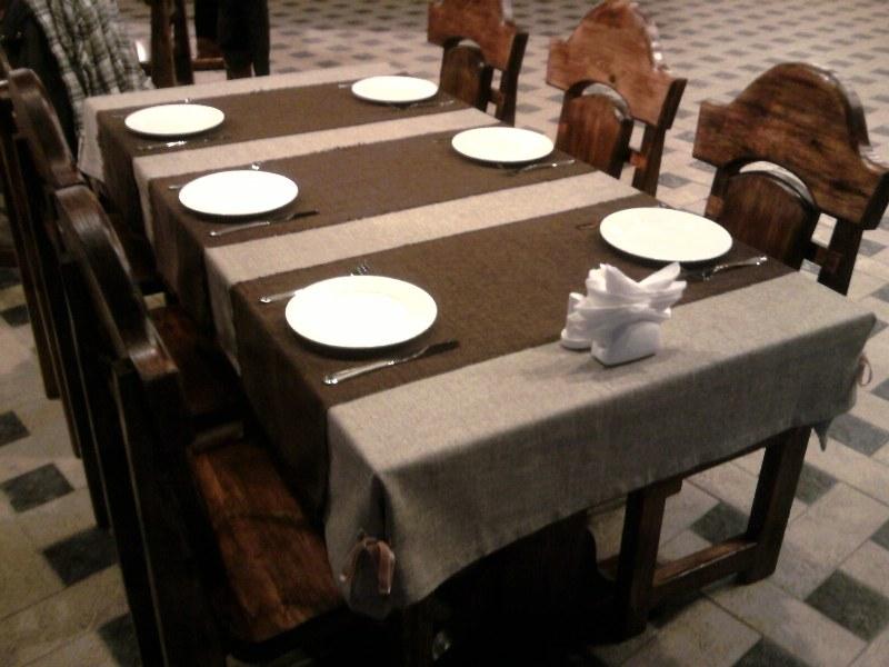 скатерть для ресторана фото