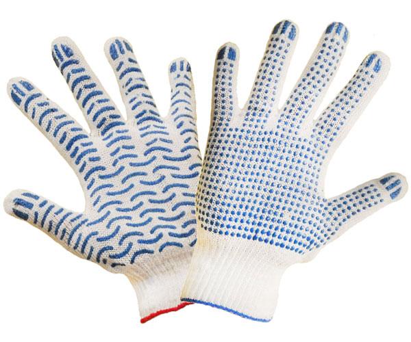 Купить Перчатки вязаные пятипалые х/б,перчатки рабочие
