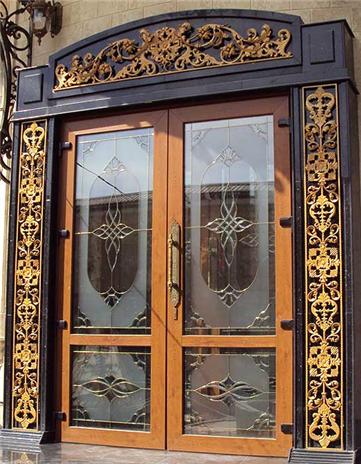 входная дверь витраж