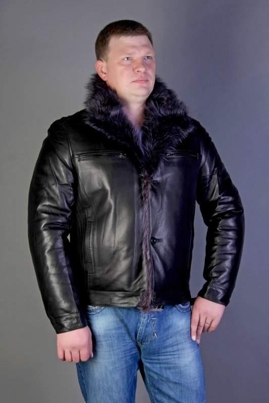 Мужские кожаные куртки marlboro